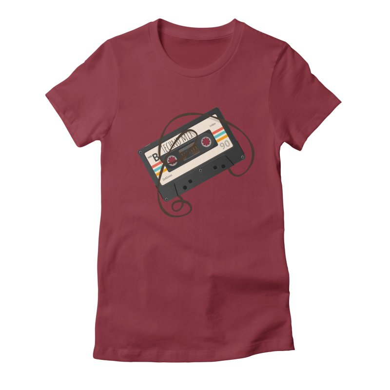 Techno mixtape  Women's Fitted T-Shirt by Strictly Underground Music's Shop