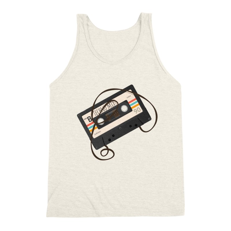 Techno mixtape  Men's Triblend Tank by Strictly Underground Music's Shop