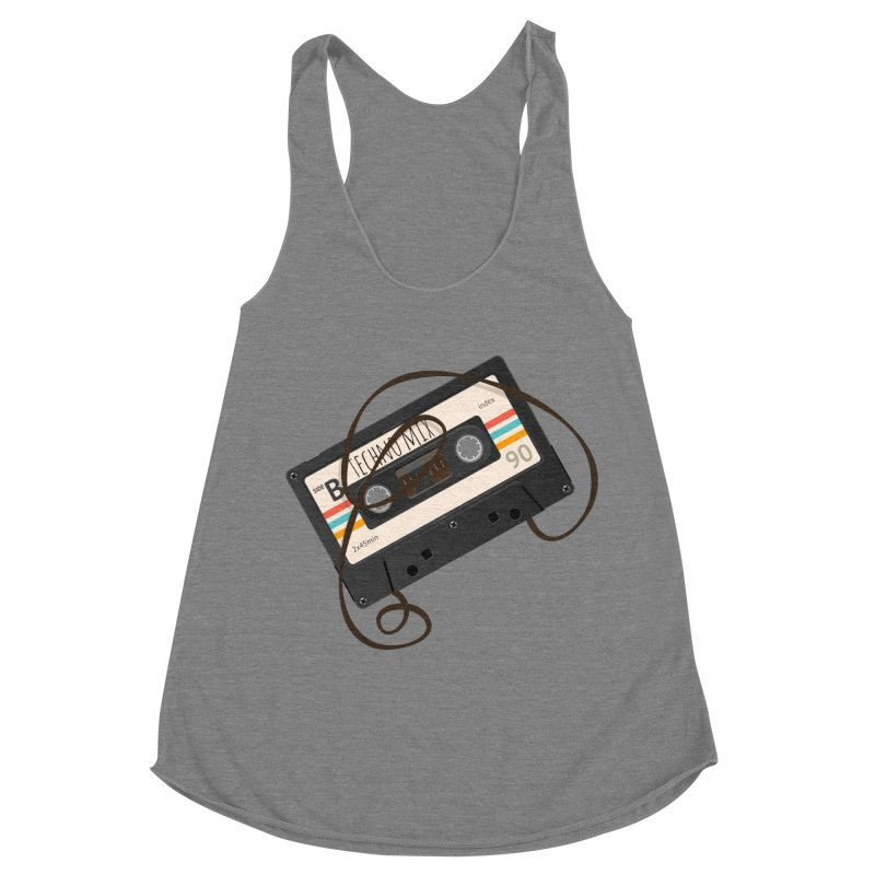 Techno mixtape  Women's Racerback Triblend Tank by Strictly Underground Music's Shop