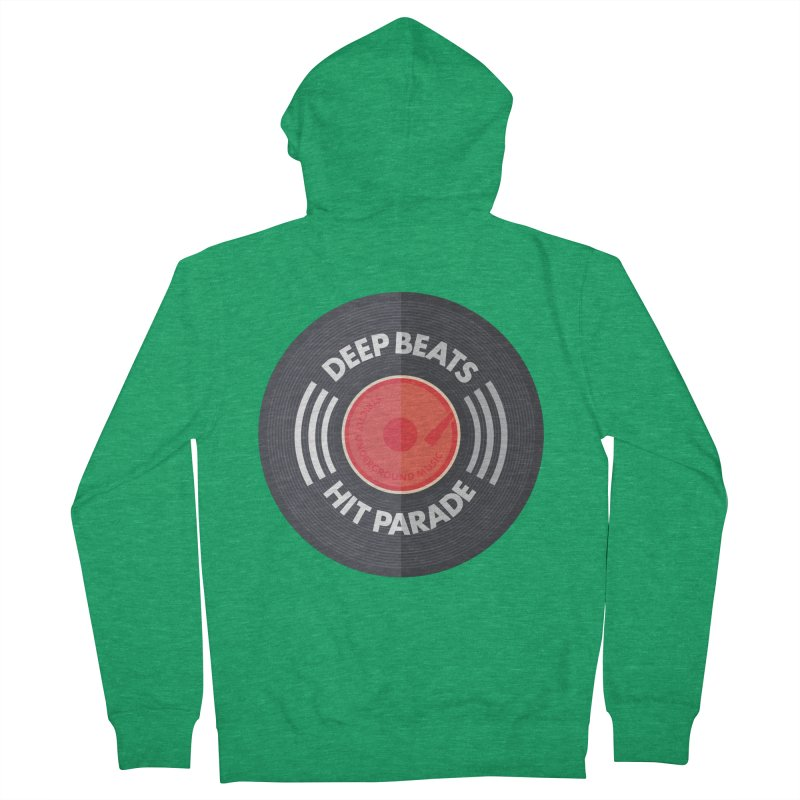 Deep Beats Hit Parade Men's Zip-Up Hoody by Strictly Underground Music's Shop