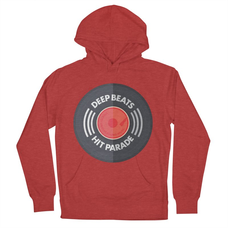 Deep Beats Hit Parade Men's French Terry Pullover Hoody by Strictly Underground Music's Shop