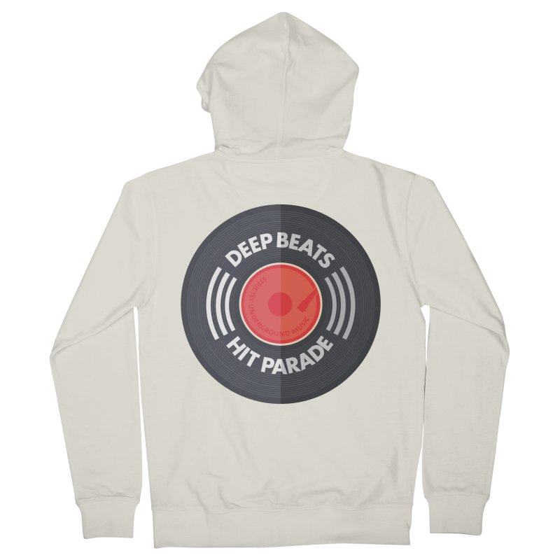 Deep Beats Hit Parade Men's French Terry Zip-Up Hoody by Strictly Underground Music's Shop