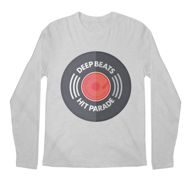 Deep Beats Hit Parade Men's Regular Longsleeve T-Shirt by Strictly Underground Music's Shop