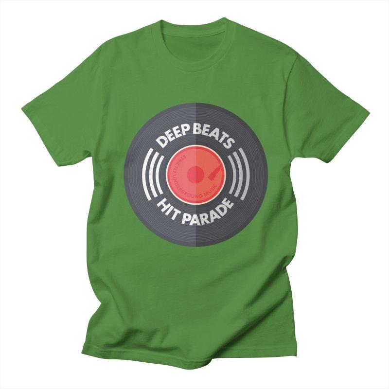 Deep Beats Hit Parade Men's Regular T-Shirt by Strictly Underground Music's Shop