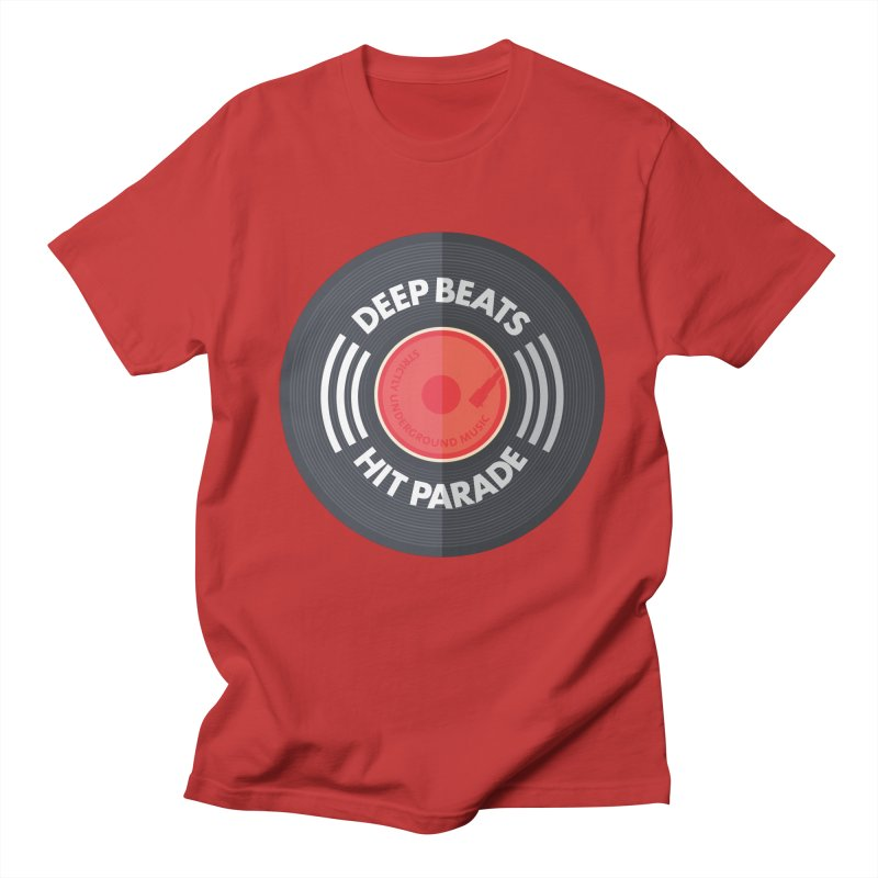 Deep Beats Hit Parade Men's Regular T-Shirt by Strictly Underground Music's Shop