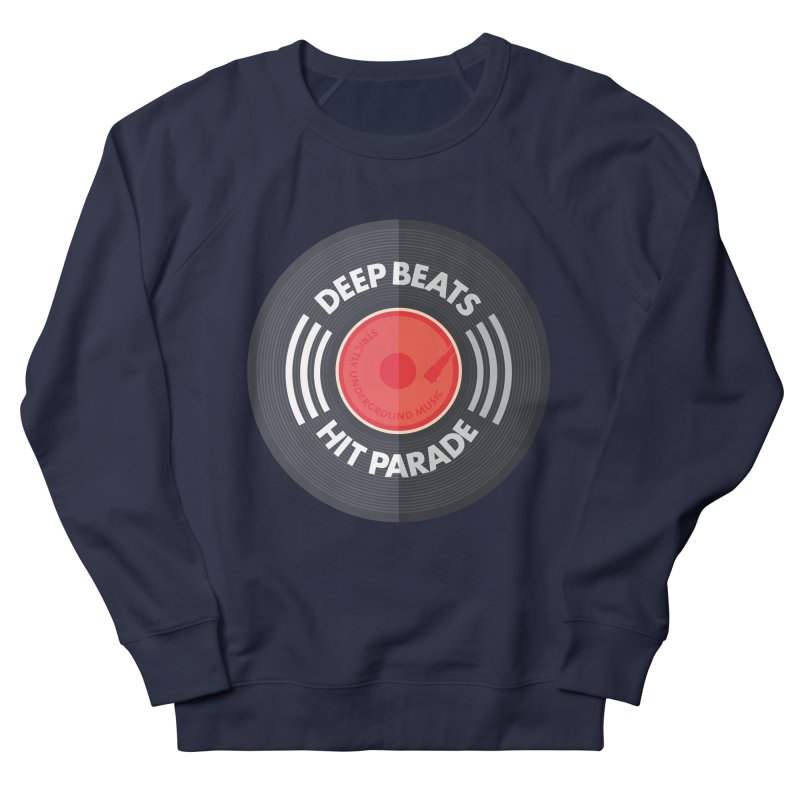Deep Beats Hit Parade Men's French Terry Sweatshirt by Strictly Underground Music's Shop