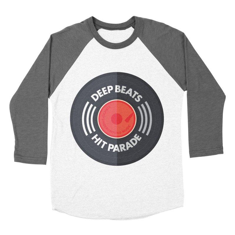 Deep Beats Hit Parade Men's Baseball Triblend Longsleeve T-Shirt by Strictly Underground Music's Shop