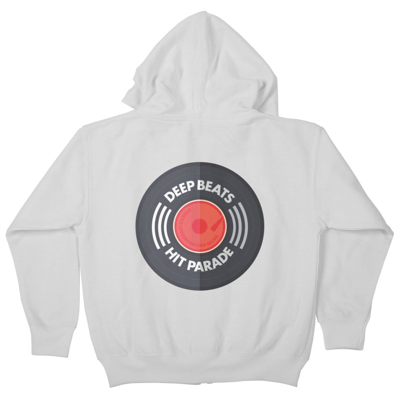 Deep Beats Hit Parade Kids Zip-Up Hoody by Strictly Underground Music's Shop