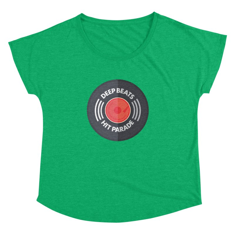Deep Beats Hit Parade Women's Dolman Scoop Neck by Strictly Underground Music's Shop