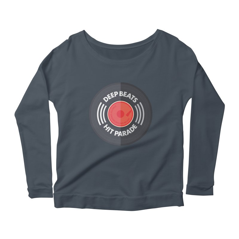 Deep Beats Hit Parade Women's Longsleeve Scoopneck  by Strictly Underground Music's Shop