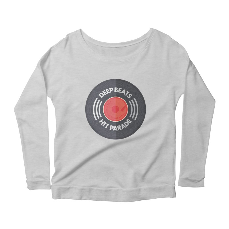 Deep Beats Hit Parade Women's Scoop Neck Longsleeve T-Shirt by Strictly Underground Music's Shop