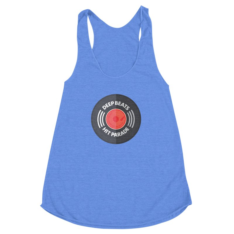 Deep Beats Hit Parade Women's Racerback Triblend Tank by Strictly Underground Music's Shop