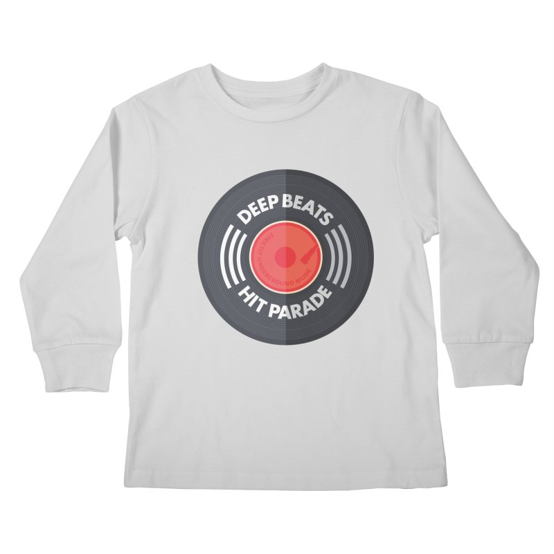 Deep Beats Hit Parade Kids Longsleeve T-Shirt by Strictly Underground Music's Shop