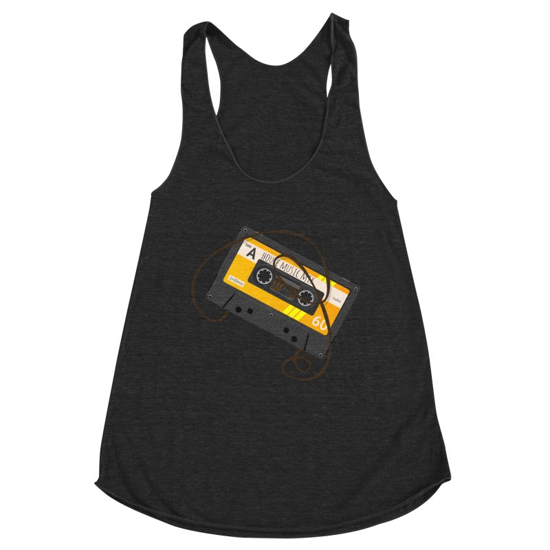 House music mixtape side A Women's Racerback Triblend Tank by Strictly Underground Music's Shop