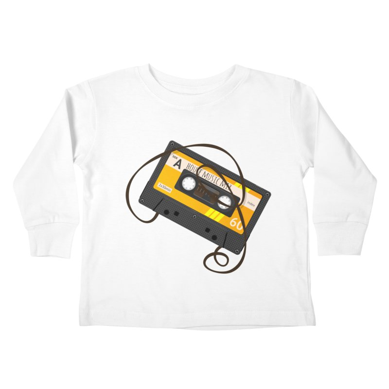 House music mixtape side A Kids Toddler Longsleeve T-Shirt by Strictly Underground Music's Shop