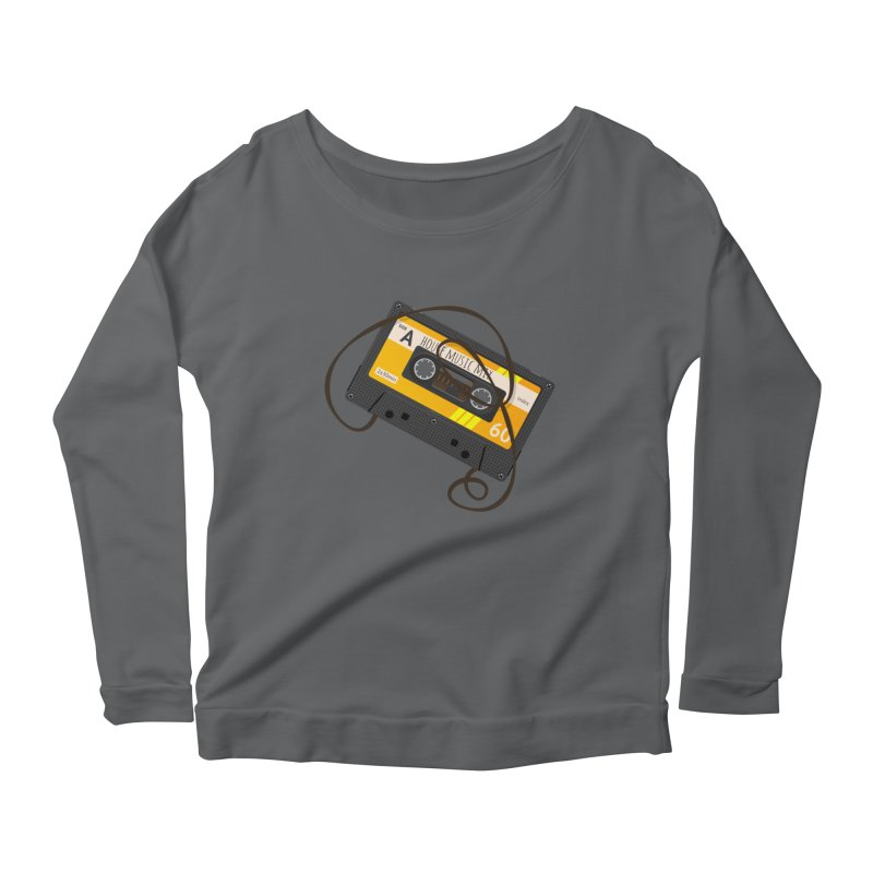 House music mixtape side A Women's Longsleeve T-Shirt by Strictly Underground Music's Shop