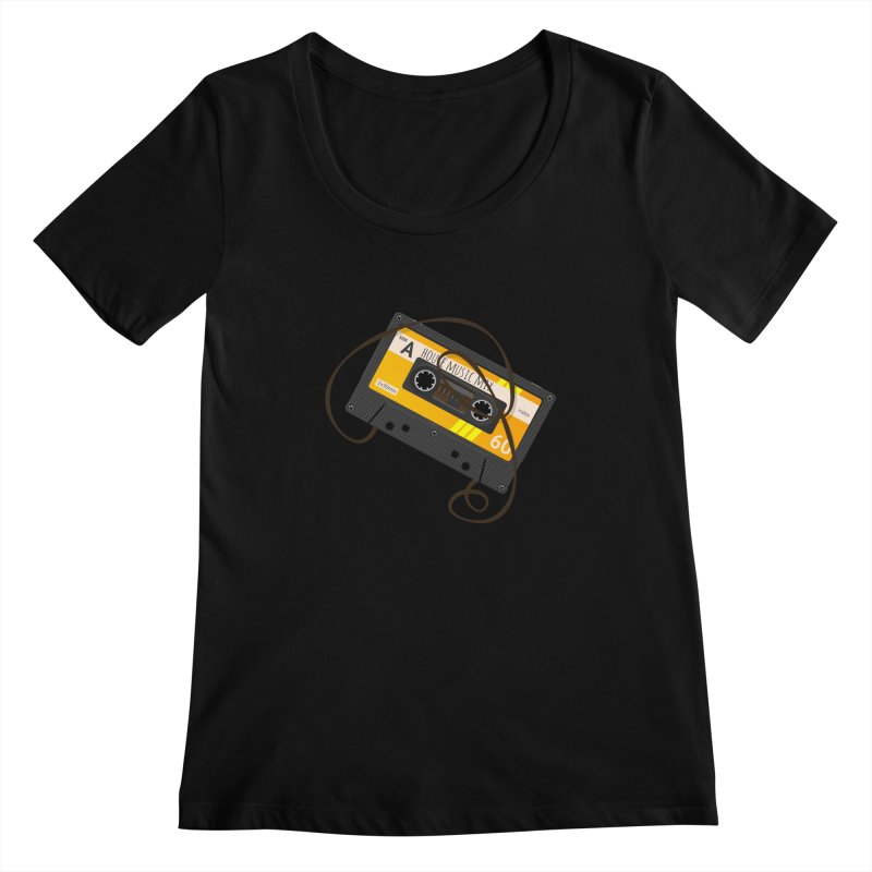 House music mixtape side A Women's Scoopneck by Strictly Underground Music's Shop