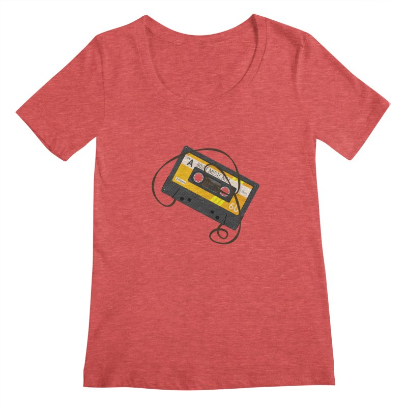 House music mixtape side A Women's Regular Scoop Neck by Strictly Underground Music's Shop