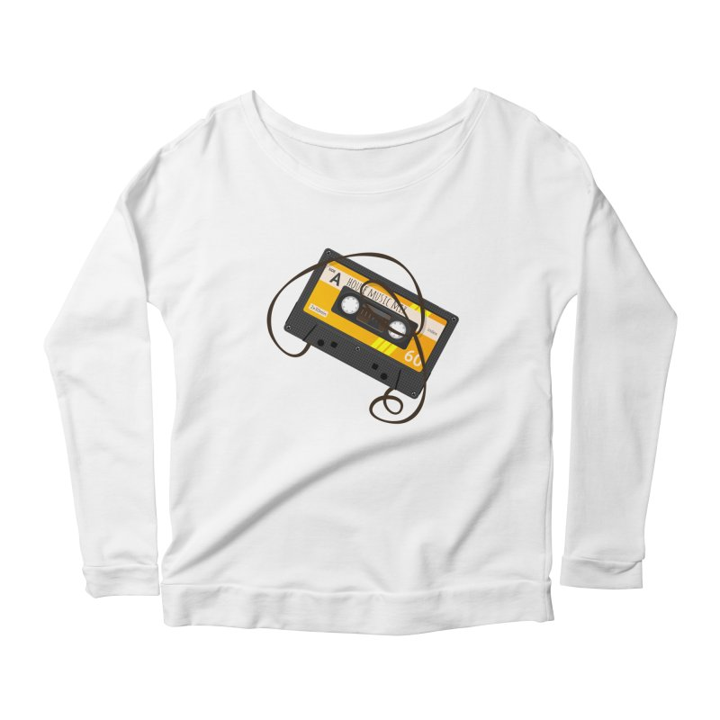 House music mixtape side A Women's Longsleeve Scoopneck  by Strictly Underground Music's Shop