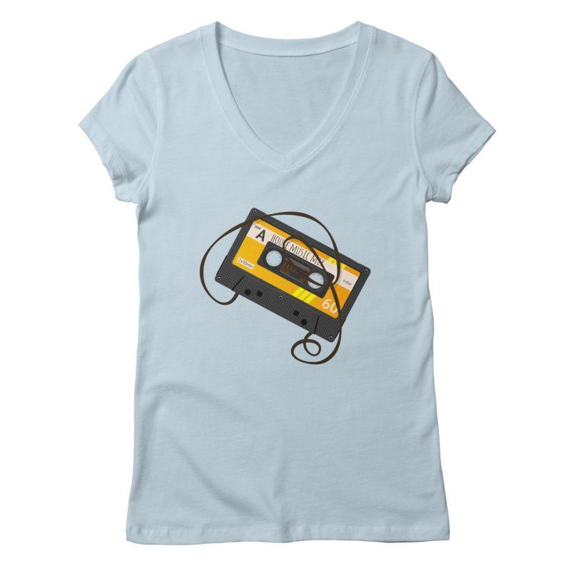 House music mixtape side A Women's Regular V-Neck by Strictly Underground Music's Shop
