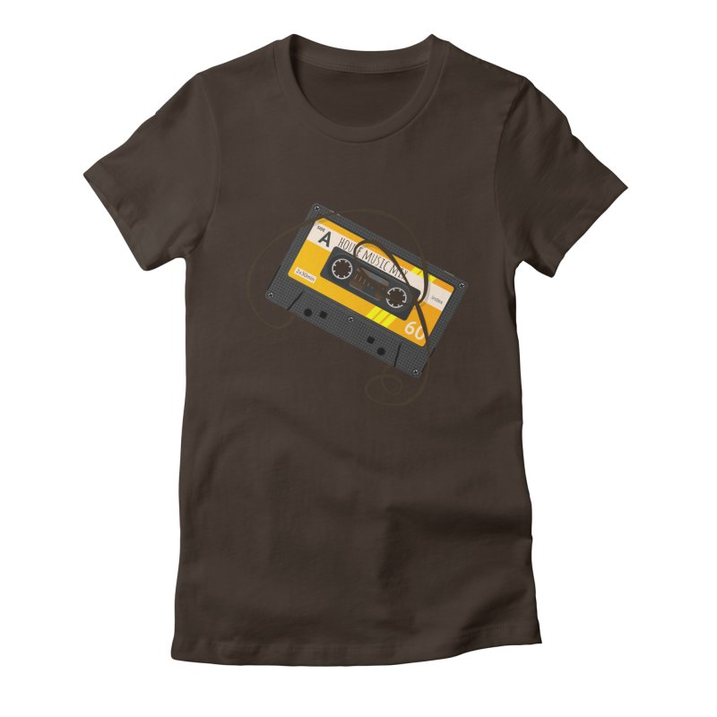 House music mixtape side A Women's Fitted T-Shirt by Strictly Underground Music's Shop
