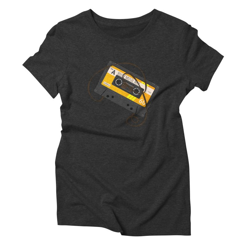 House music mixtape side A Women's Triblend T-Shirt by Strictly Underground Music's Shop