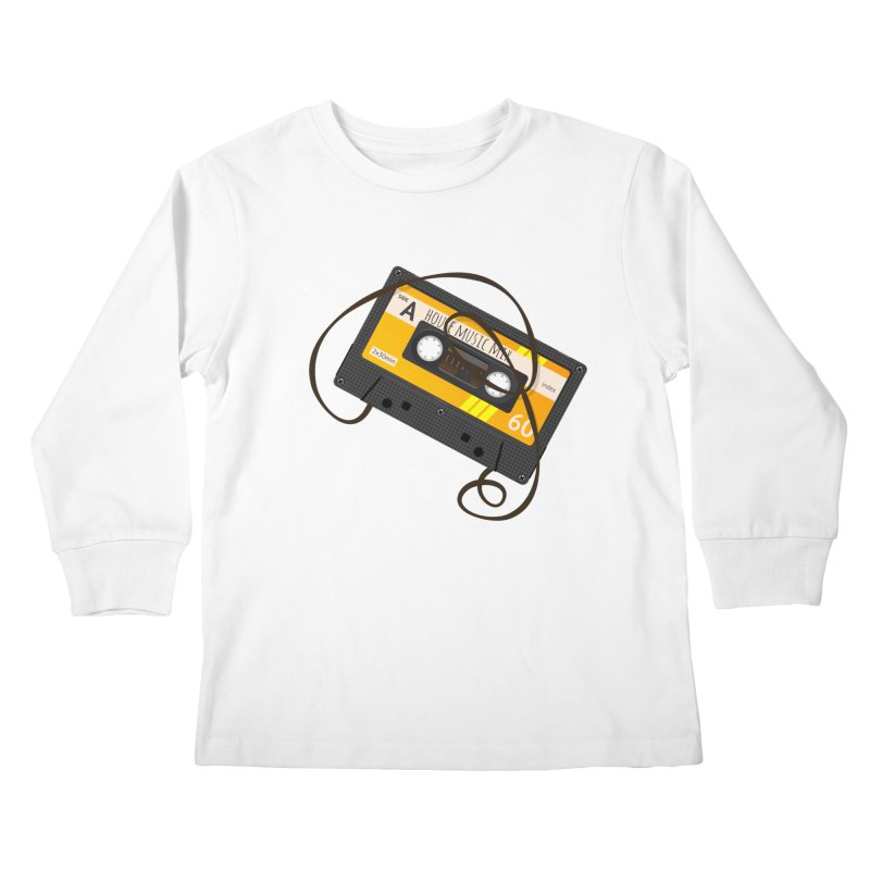 House music mixtape side A Kids Longsleeve T-Shirt by Strictly Underground Music's Shop