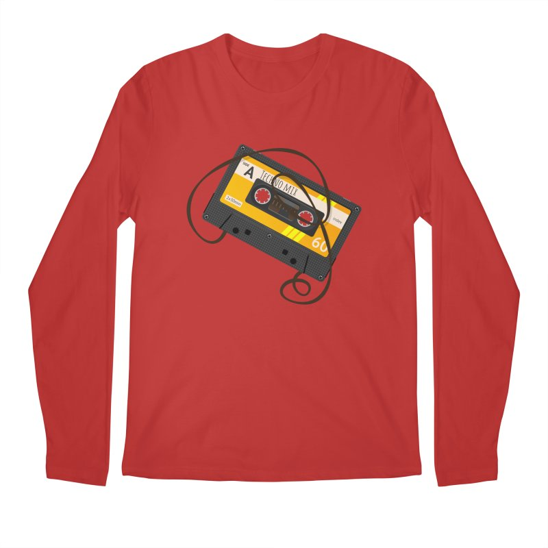 Techno music mixtape side A Men's Longsleeve T-Shirt by Strictly Underground Music's Shop