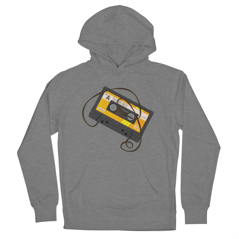 Techno music mixtape side A Men's French Terry Pullover Hoody by Strictly Underground Music's Shop
