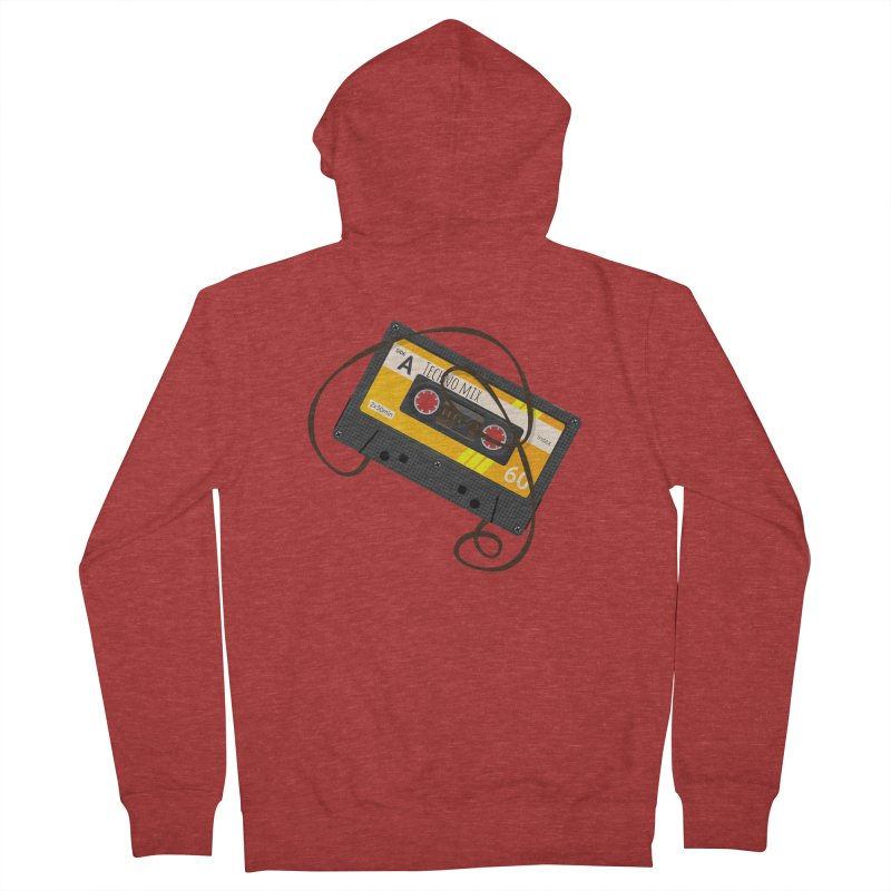 Techno music mixtape side A Women's French Terry Zip-Up Hoody by Strictly Underground Music's Shop