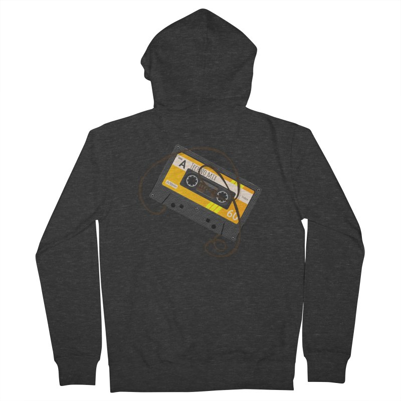 Techno music mixtape side A Men's French Terry Zip-Up Hoody by Strictly Underground Music's Shop