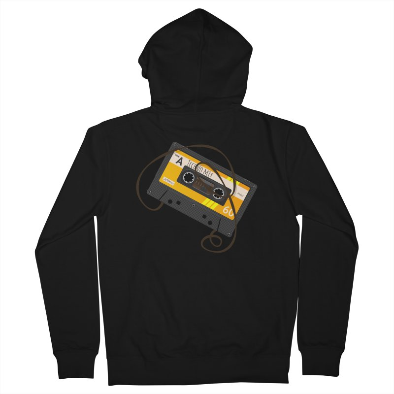 Techno music mixtape side A Men's Zip-Up Hoody by Strictly Underground Music's Shop