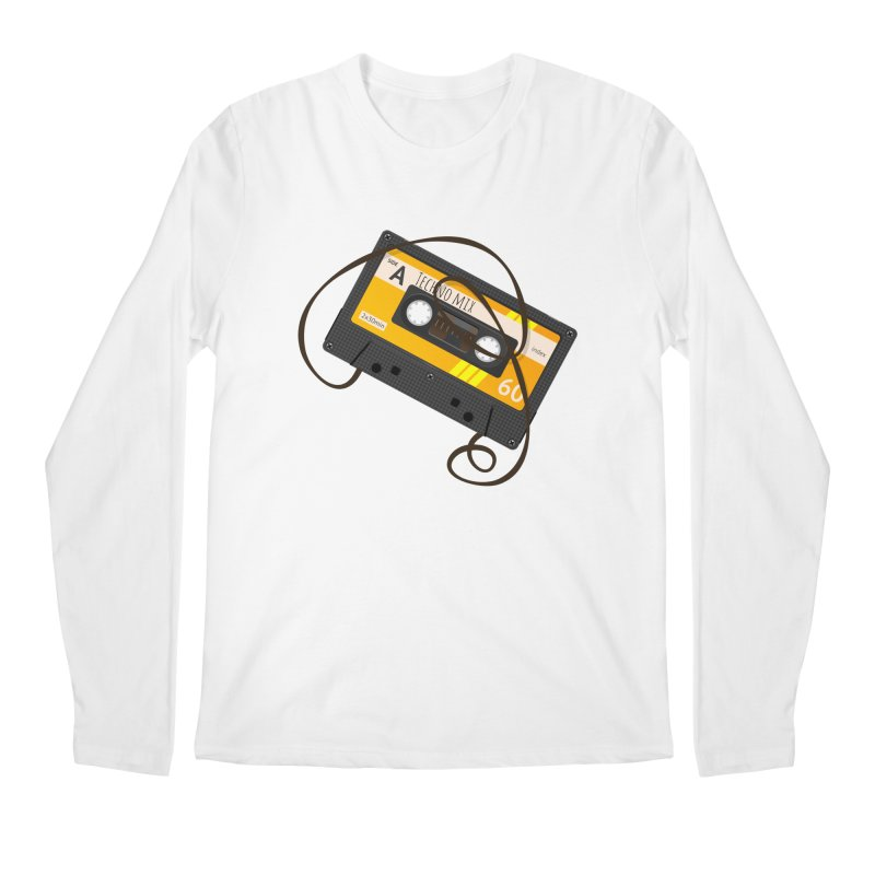 Techno music mixtape side A Men's Regular Longsleeve T-Shirt by Strictly Underground Music's Shop