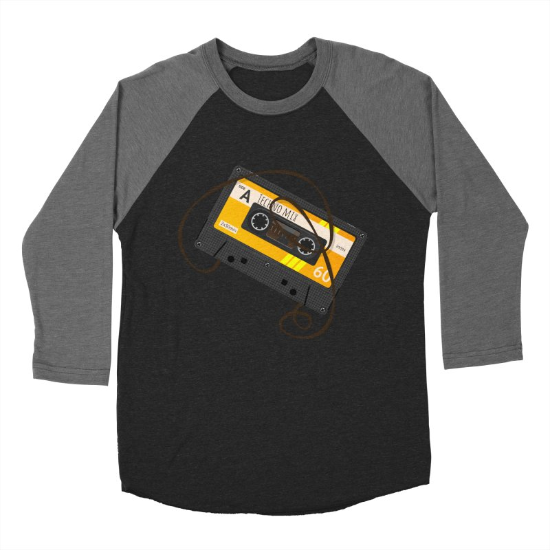 Techno music mixtape side A Men's Baseball Triblend T-Shirt by Strictly Underground Music's Shop