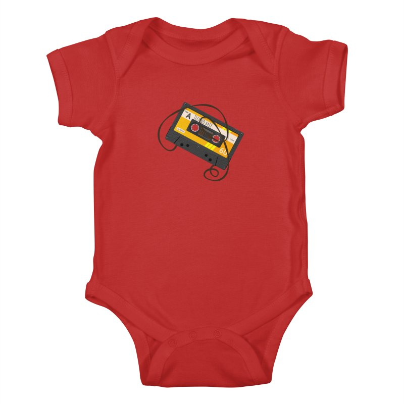 Techno music mixtape side A Kids Baby Bodysuit by Strictly Underground Music's Shop
