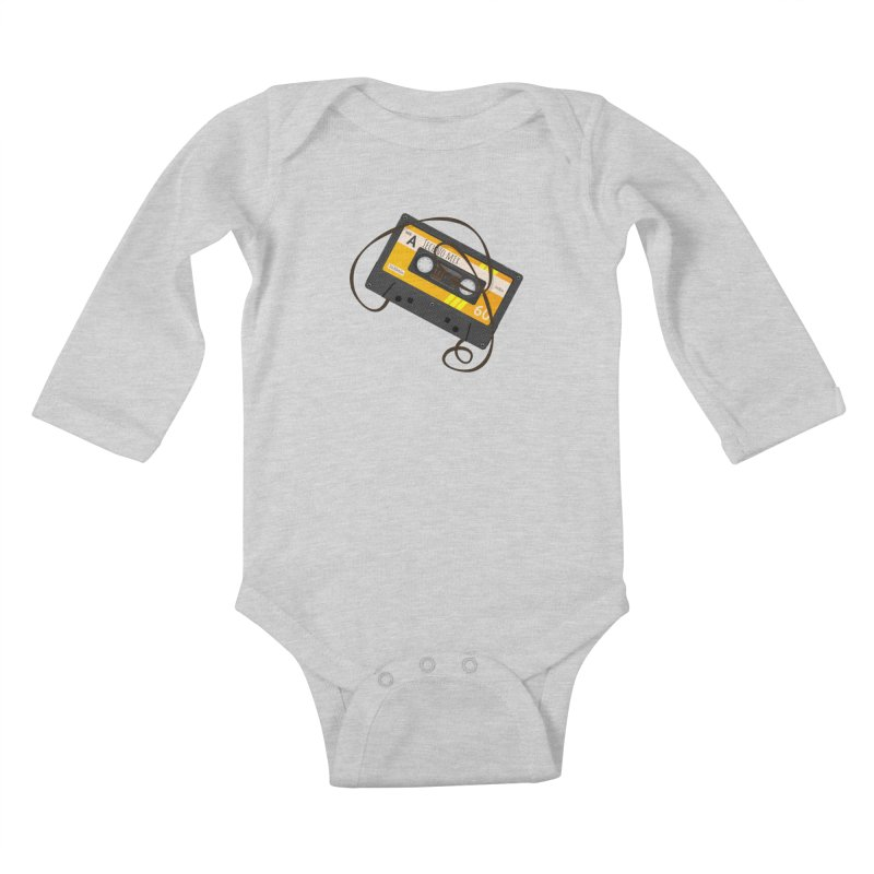 Techno music mixtape side A Kids Baby Longsleeve Bodysuit by Strictly Underground Music's Shop