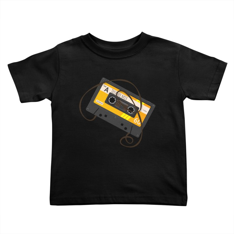 Techno music mixtape side A Kids Toddler T-Shirt by Strictly Underground Music's Shop