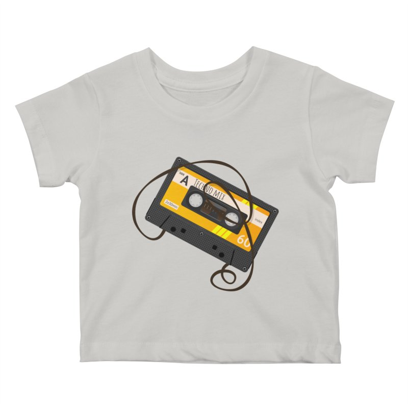 Techno music mixtape side A Kids Baby T-Shirt by Strictly Underground Music's Shop
