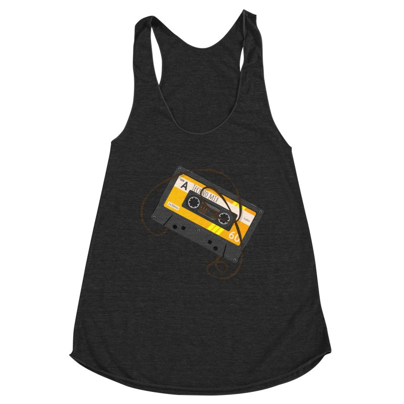 Techno music mixtape side A Women's Racerback Triblend Tank by Strictly Underground Music's Shop