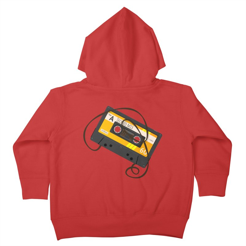 Techno music mixtape side A Kids Toddler Zip-Up Hoody by Strictly Underground Music's Shop
