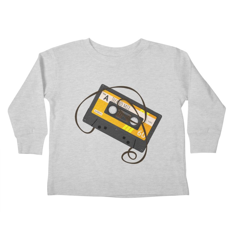 Techno music mixtape side A Kids Toddler Longsleeve T-Shirt by Strictly Underground Music's Shop