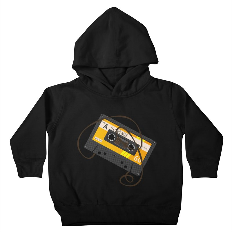 Techno music mixtape side A Kids Toddler Pullover Hoody by Strictly Underground Music's Shop
