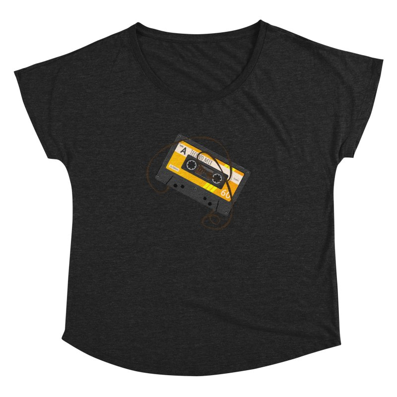 Techno music mixtape side A Women's Dolman Scoop Neck by Strictly Underground Music's Shop