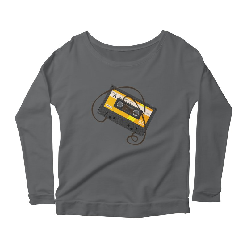 Techno music mixtape side A Women's Scoop Neck Longsleeve T-Shirt by Strictly Underground Music's Shop
