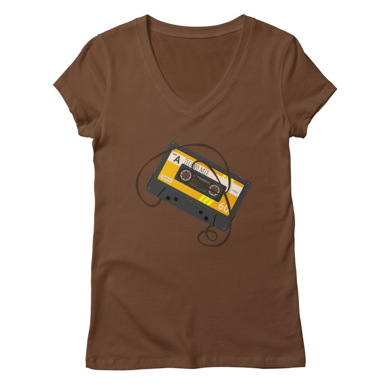 Techno music mixtape side A Women's Regular V-Neck by Strictly Underground Music's Shop