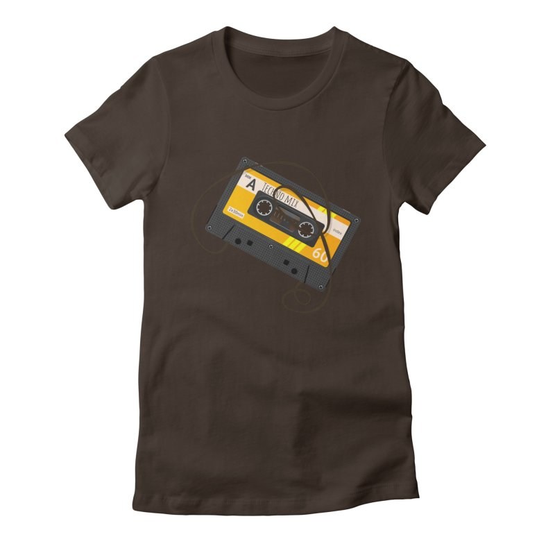 Techno music mixtape side A Women's Fitted T-Shirt by Strictly Underground Music's Shop