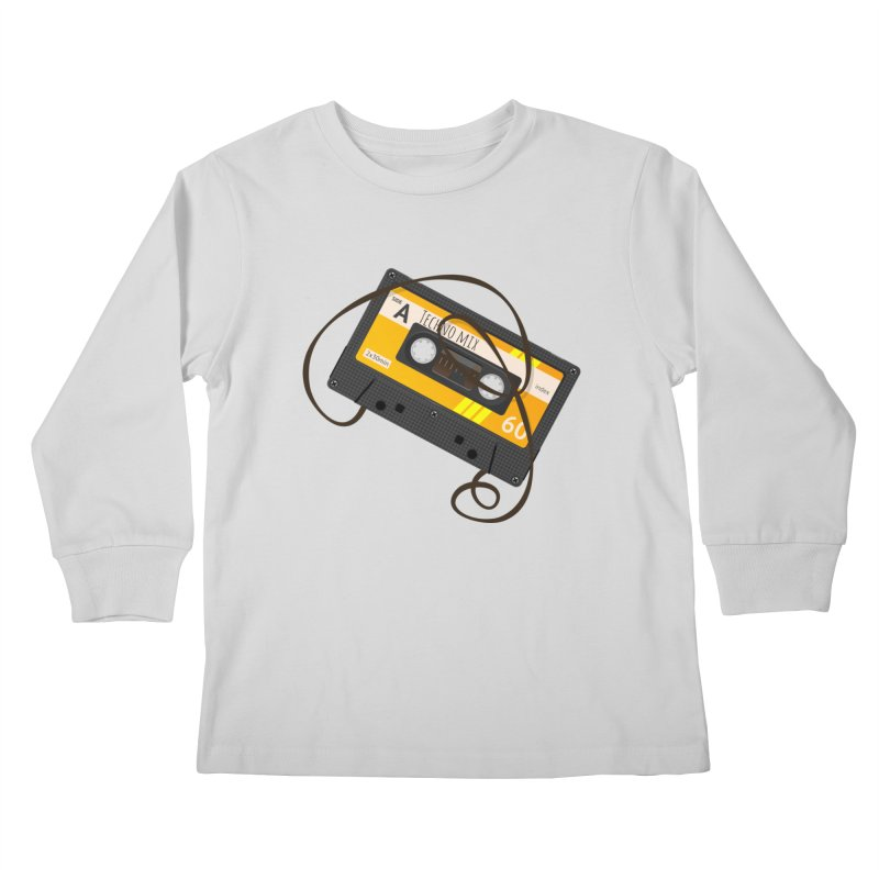 Techno music mixtape side A Kids Longsleeve T-Shirt by Strictly Underground Music's Shop