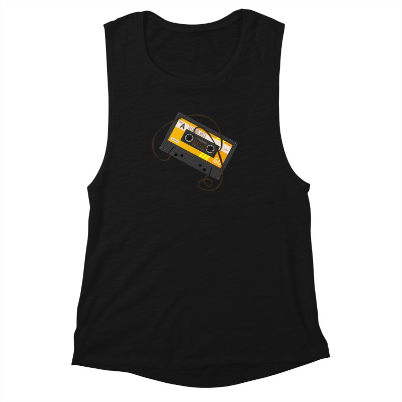 Techno music mixtape side A Women's Muscle Tank by Strictly Underground Music's Shop
