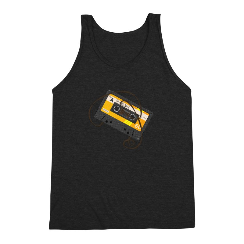 Techno music mixtape side A Men's Triblend Tank by Strictly Underground Music's Shop