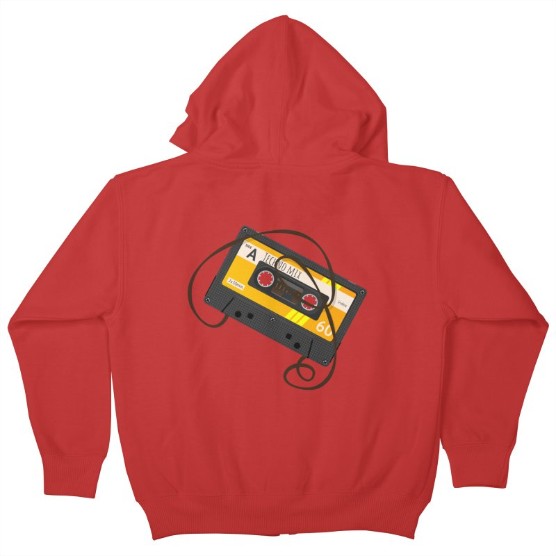 Techno music mixtape side A Kids Zip-Up Hoody by Strictly Underground Music's Shop
